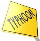 stock photo of typhoon  - Road sign with typhoon image with hi - JPG
