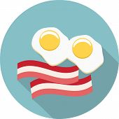 Vector eggs and bacon icon