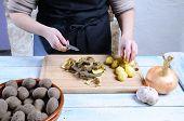 Peeling Potatoes..