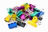 Color Binder Clips Isolated