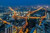 picture of dizziness  - Bangkok Expressway and Highway top view Thailand - JPG