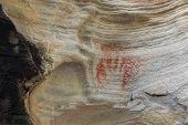 Prehistoric Aboriginal Hand Print Using Red Ochre Australia