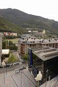 Pedestrians Are On The Sidewalk In Andorra La Vella