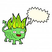 picture of demons  - cartoon little demon with speech bubble - JPG