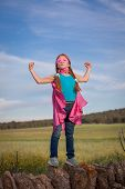 pic of heroes  - strong confident super hero girl child concept - JPG