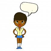 foto of annoying  - cartoon annoyed girl with speech bubble - JPG