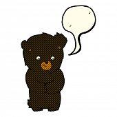 image of bear-cub  - cartoon bear cub - JPG
