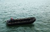 picture of outboard  - Rescue boats of Thai Navy on the sea - JPG