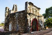 stock photo of malacca  - A Famosa fort in Malacca Malaysia - JPG