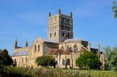 stock photo of church-of-england  - Tewkesbury Abbey also known as The Abbey Church Tewkesbury Gloucestershire England UK Western Europe - JPG