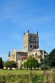 picture of church-of-england  - Tewkesbury Abbey also known as The Abbey Church Tewkesbury Gloucestershire England UK Western Europe - JPG