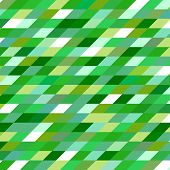 stock photo of parallelogram  - Abstract geometric vintage vector green background - JPG