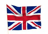picture of waving  - Image of a waving flag of UK - JPG
