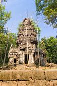 image of hindu  - Hindu sanctuary situated name Ta Krabey stone castle under sunlight - JPG
