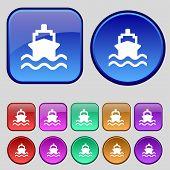 image of brigantine  - ship icon sign - JPG