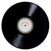 stock photo of lp  - A typical LP vinyl record with the legend CLASSICAL and a circle of piano keys all over a white background - JPG