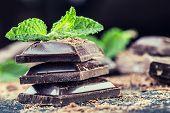 image of mint leaf  - Chocolate - JPG