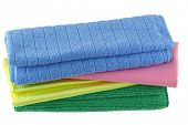 stock photo of electricity  - Different types of Micro Fiber cleaning cloth with static electricity that attracts dust - JPG