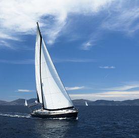 stock photo of yacht  - Sailing - JPG