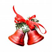Christmas Bells On White Background
