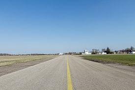 foto of ultralight  - Airports small sport airplane preparing to flight  - JPG