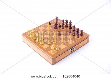 Spanish Gambit On Chess Board