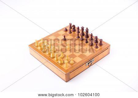 Sicilian Gambit On Chess Board