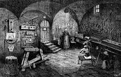 Постер, плакат: Nuremberg Instruments of torture vintage engraved illustration Journal des Voyage Travel Journal