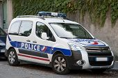 Modern french police car
