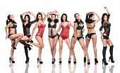 Go-go dancer girls in underwear poster