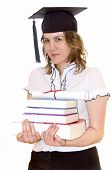 Young Student With Graduation Diploma And Books