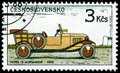 Vintage Postage Stamp. Old-time Classical Cars.1.