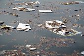 pic of water pollution  - water pollution with garbage and toxic material - JPG