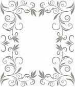 frame with floral decoration