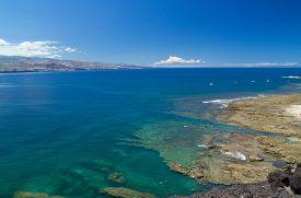 picture of naturist  - Gran Canaria El Confital beach on the edge of Las Palmas La Isleta peninsula cloud - JPG