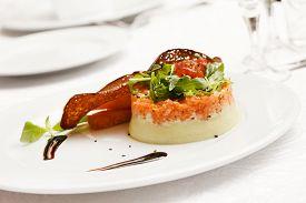 stock photo of tartar  - salmon tartar - JPG