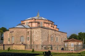 stock photo of ottoman  - Little Hagia Sophia is a former Eastern Orthodox church dedicated to Saints Sergius and Bacchus in Constantinople converted into a mosque during the Ottoman Empire - JPG