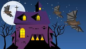 foto of scary haunted  - Scary Haunted House - JPG