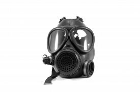 pic of s10  - Black gas mask isolated on white background - JPG