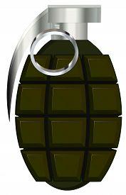 stock photo of grenades  - hand grenade vector illustration isolated on white background - JPG