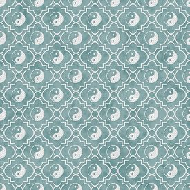 pic of yin  - Blue and White Yin Yang Tile Pattern Repeat Background that is seamless and repeats - JPG