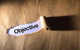 picture of objectives  - torn paper with word Objective   - JPG