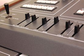 picture of levers  - Buttons and levers on the control panel of electronic piano - JPG