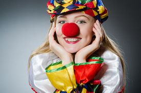 foto of clowns  - Clown in the funny concept - JPG