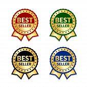 Award Ribbon The Best Seller poster