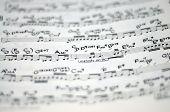 music notation (shallow depth of field)