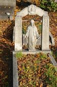 image of cherubim  - grave in an old cemetery in london - JPG