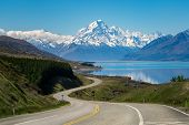 Road To Mount Cook, New Zealand poster
