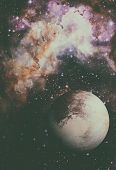 Solar System - Pluto. It Is A Dwarf Planet In The Kuiper Belt. poster