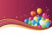 balloons disign element,celebration background